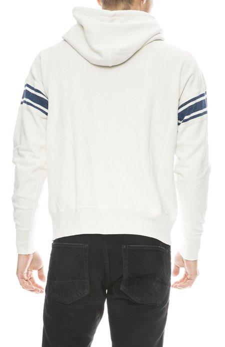 Remi Relief Stripe Sleeve Fleece Hoodie - OFF X INDIGO
