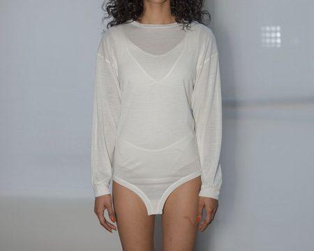 Baserange Michael L/S Tee Bodysuit - WHITE