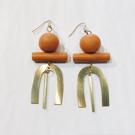 Sonia Gracia Handmade U Earrings - Orange