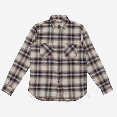 3Sixteen Utility Flannel Workshirt - Brown Plaid
