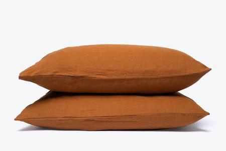 Morrow Soft Goods French Linen Pillowcase / TERRACOTTA