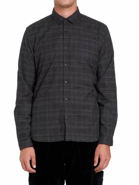 Oliver Spencer Clerkenwell Tab Shirt - Clarence Charcoal