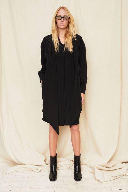 Assembly New York Scarf Shirt Dress - Black