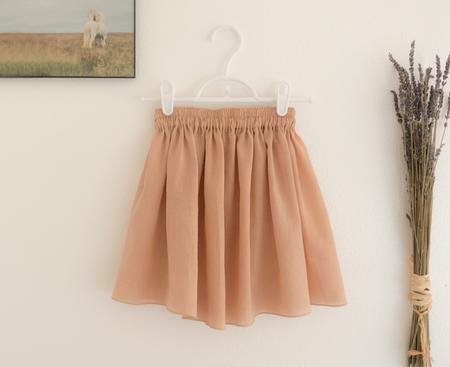 Petit Mioche double-layered skirt - adobe