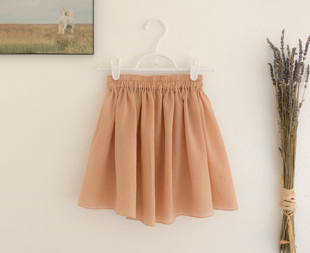 KIDS Petit Mioche semi-sheer skirt - adobe