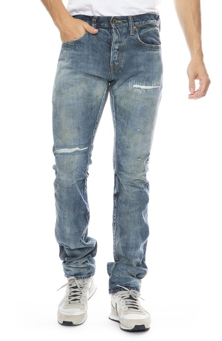 PRPS Demon Jean with Patch Detail - Light Wash