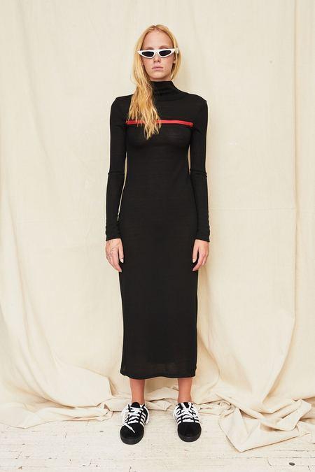 Assembly New York Black Knit T-Neck Dress