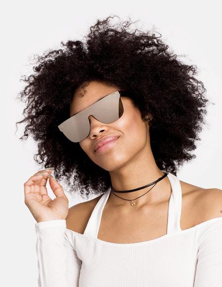 RetroSuperFuture Flat Top Tuttolente Sunglasses - ivory
