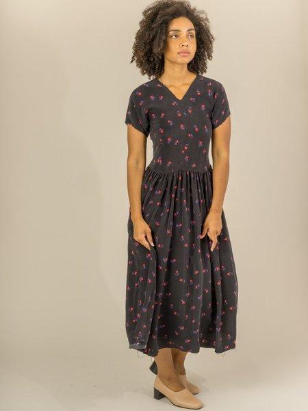 Caron Callahan Pico Dress - Black Floral