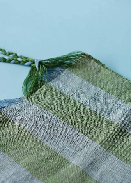 Marta Buda Hand Woven Bag - Ocean Fern Stripe