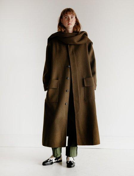 Cristaseya Wool Overcoat with Scarf