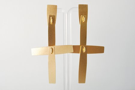 Annie Costello Brown Cruces Earrings