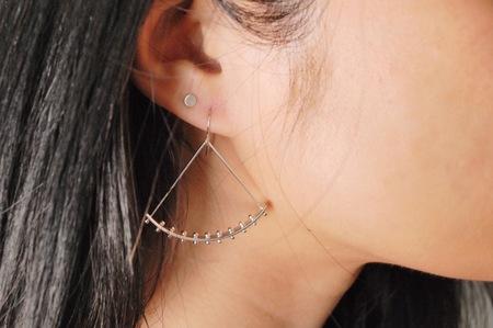 M. Hisae Raya Earrings - Sterling Silver