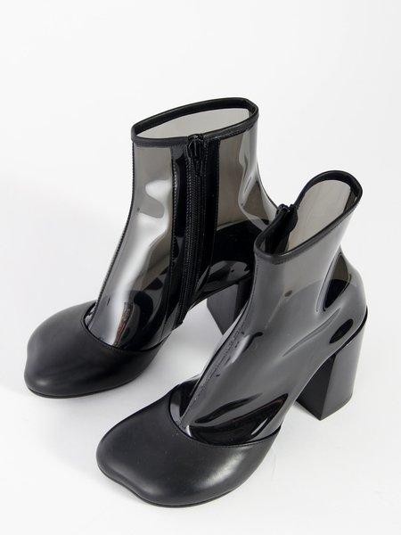 MM6 by Maison Margiela PVC Ankle Boots - Black
