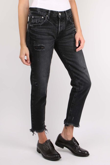 MOUSSY MV Kelley Tapered DENIM - BLACK