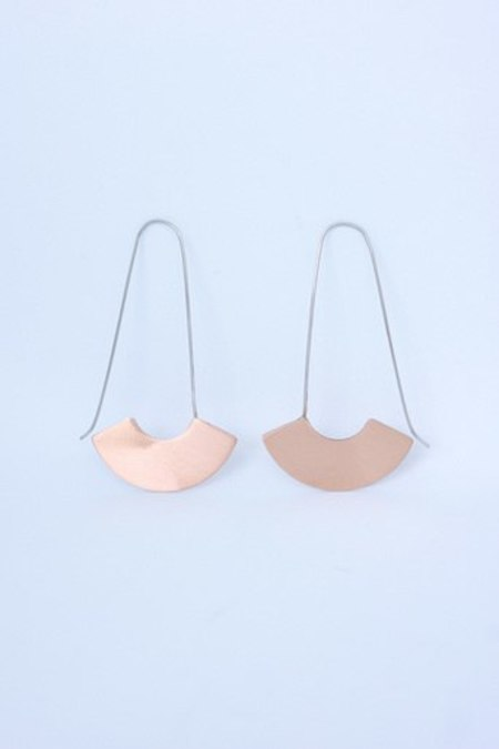pectoral large earring - copper