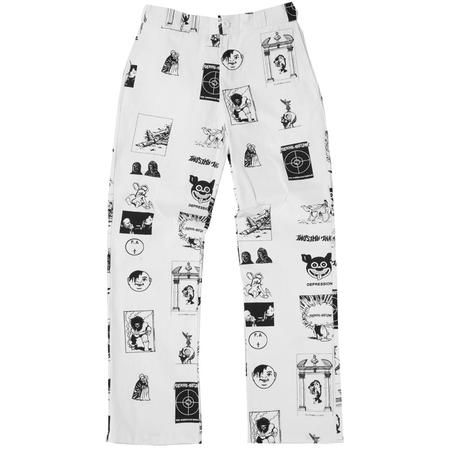 Fucking Awesome Cut Outs Work Pants - White