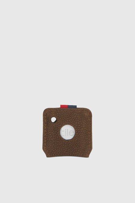 HERSCHEL SUPPLY CO Keychain - Tile/Brown Pebbled Nubuck