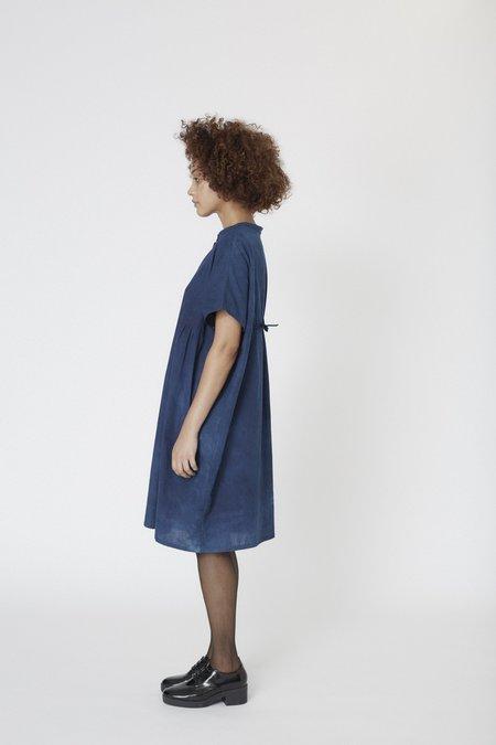 Osei-Duro Bata Dress - Natural Indigo