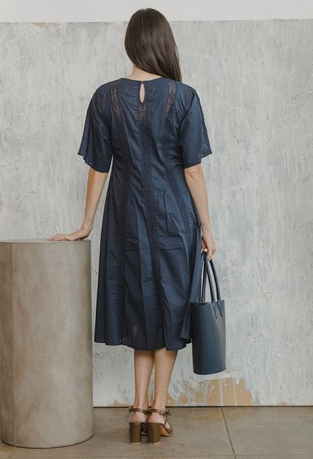 Merlette Dominica Dress - Navy