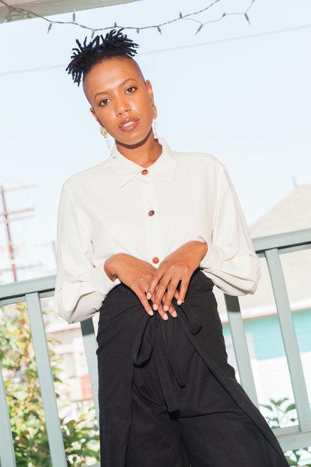 Waltz Button-up Silk Blouse