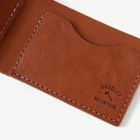 Bradley Mountain Bi-Fold Wallet - brown leather