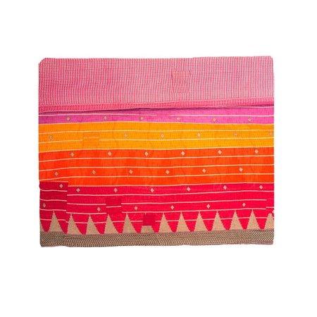 Sari Bari Reversible Kantha Quilt 02