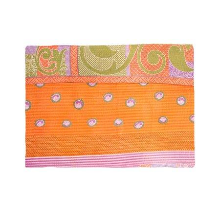 Sari Bari Reversible Kantha Quilt 06