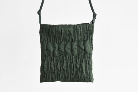 The Row Large Medicine Pouch - Hunter Green