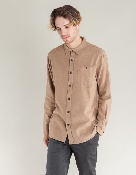 Katin Twiller Flannel Shirt - Khaki