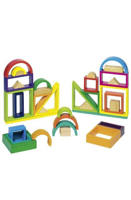 Kids Goki Rainbow Building Blocks