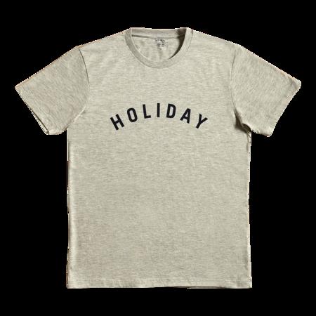 UNISEX Holiday Navy Logo T Shirt - GREY