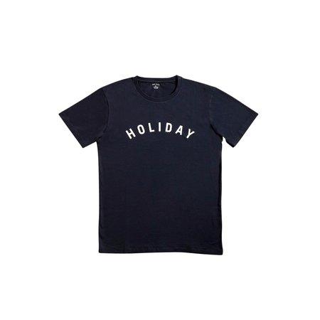 Unisex Holiday White Logo T Shirt - NAVY