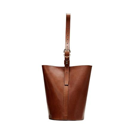 Trademark Bucket Bag - SADDLE