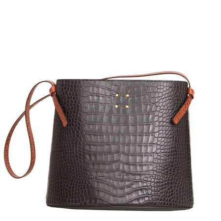 Trademark Sybil Faux Croc Bag - Navy