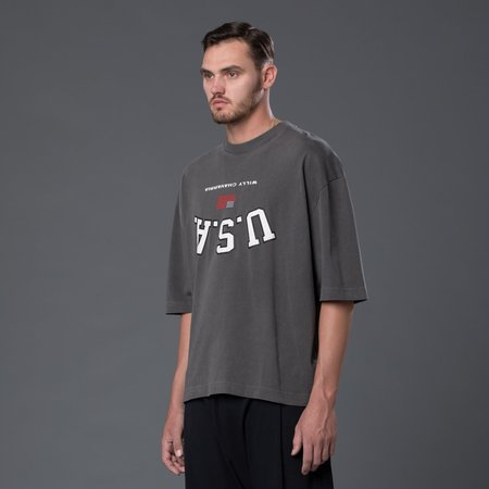 Willy Chavarria Canal Street Buffalo Tee - Charcoal
