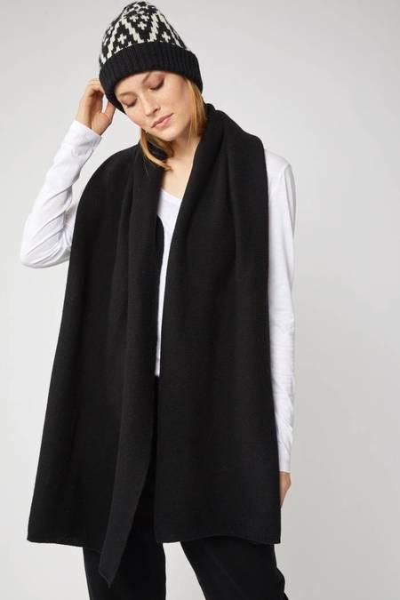 Lanius Merino Wool Scarf - Black