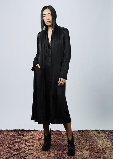 Jaga Long Rayon Duster Coat - black