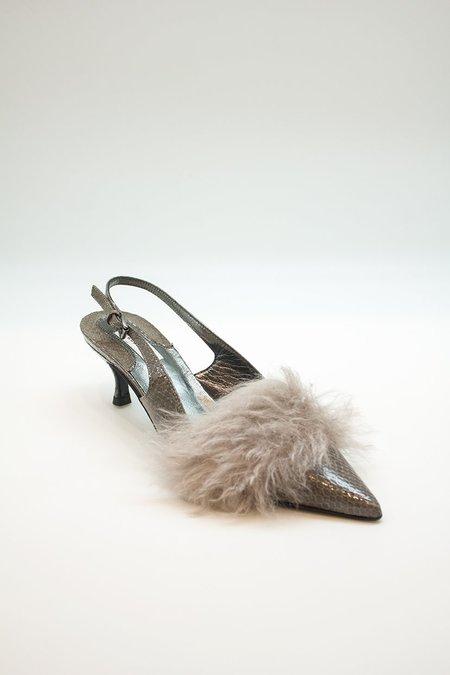 Dorothee Schumacher Textured Deluxe Snake Low Heels