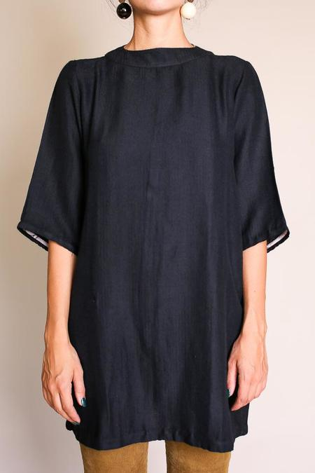 Umber & Ochre Wool Anie Dress - Black