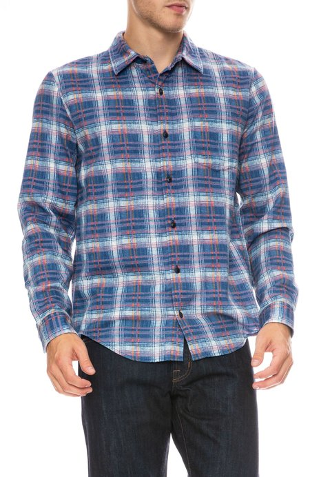 Outerknown Brushed Highline Plaid Shirt
