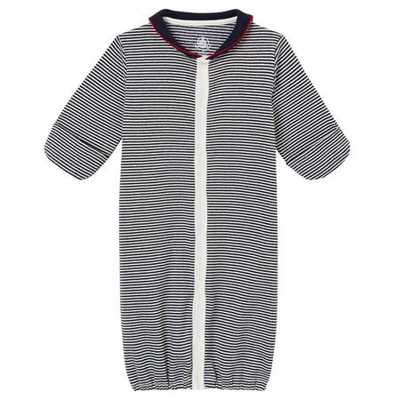 KIDS Petit Bateau Baby Convertable Pyjama-Sleepsac - Blue And White Stripes