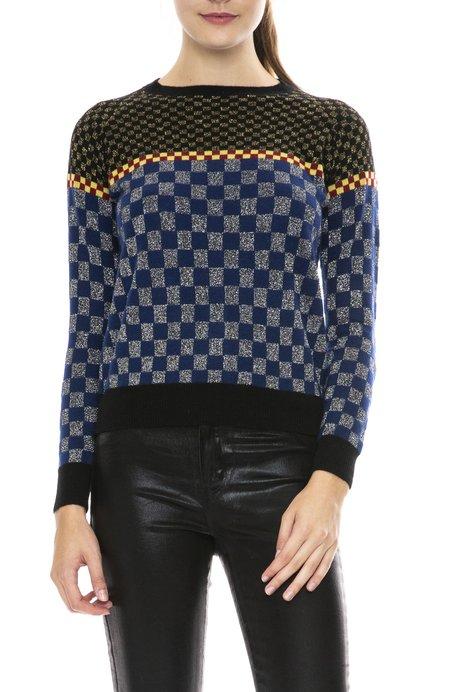 Replica Los Angeles Checkerboard Sweater - Black/Navy