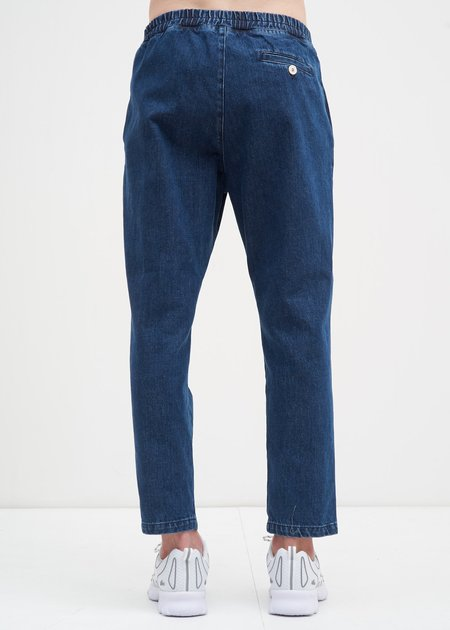 Sunnei Washed Elastic Pants w/ Buttons - DENIM
