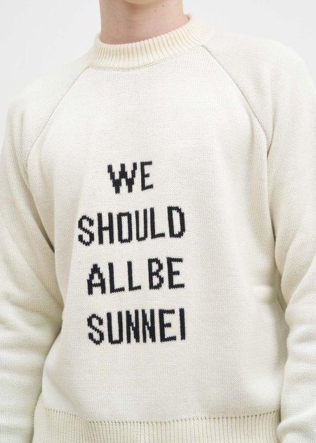 Sunnei WSABS Raglan Sweater - White