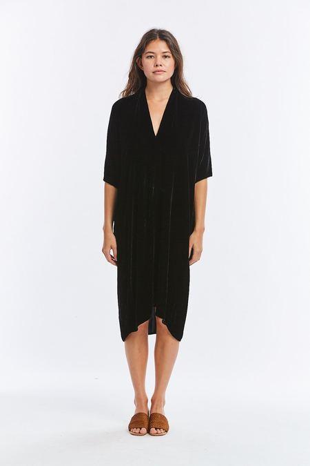 Miranda Bennett Velvet Muse Dress - Black
