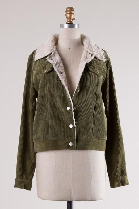 Fascination In the Alps Corduroy Jacket - Olive