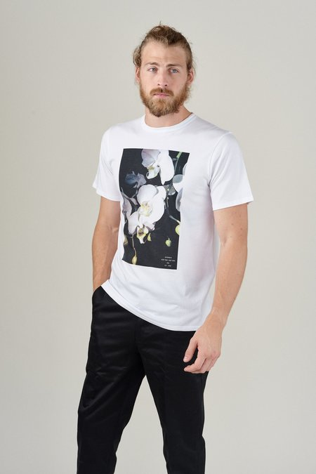 SATURDAYS NYC ORCHID TEE - WHITE