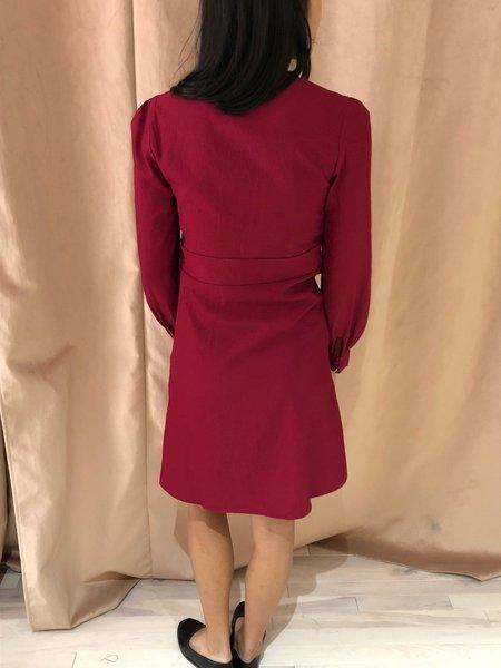 PEPALOVES TATUM DRESS - Burgundy