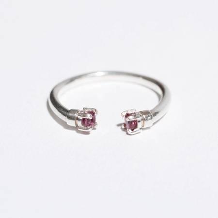 Aesa Mirror Ring - Silver/Garnet